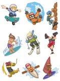Cartoon Extreme  sport icon Stock Image