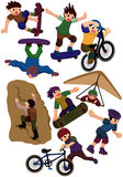 Cartoon extreme sport icon Royalty Free Stock Photo