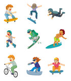 Cartoon Extreme sport icon Royalty Free Stock Photos