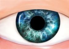 Cartoon eye Stock Images