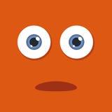 Cartoon Eye Ball. Vector illustration of a cartoon eye ball with orange background stock illustration