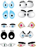 Cartoon eye set Stock Photography