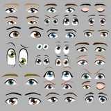 Cartoon eye set Royalty Free Stock Image
