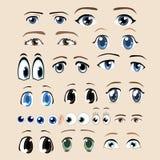 Cartoon eye set Stock Photos