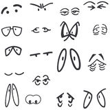 Cartoon eye set - vector Royalty Free Stock Images
