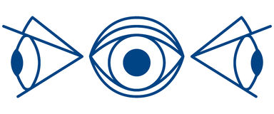 Cartoon eye symbol Royalty Free Stock Photo