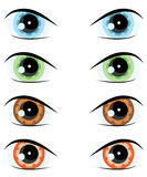 Cartoon eye. Vector set Stock Photo