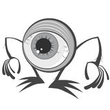 Cartoon eyeball monster. An illustration of a cartoon eyeball monster Stock Photography