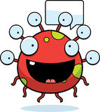 Cartoon Eyeball Monster Talking Stock Image
