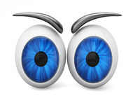 Cartoon eyeballs Stock Photo