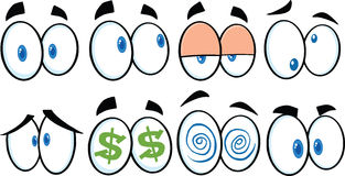 Cartoon Eyes 1. Collection Set Stock Image