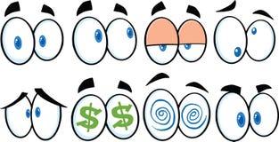 Cartoon Eyes 1. Collection Set Stock Image