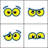 Cartoon eyes Stock Photo