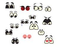 Cartoon eyes. Set of cartoon eyes over white background Royalty Free Stock Image