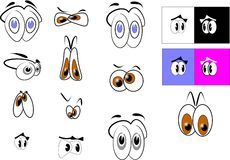 Cartoon eyes Stock Photography