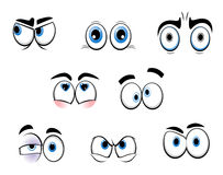 Cartoon eyes. Set of cartoon funny eyes Stock Image