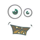Cartoon eyes. Cute cartoony eyes, cartoon, eyes, mouth, face, carton, animation , illustration, hand drawn Royalty Free Stock Images
