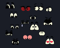 Cartoon eyes Stock Photo