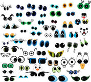 Cartoon  eyes collection. Set of cartoon  eyes over white background Royalty Free Stock Photos