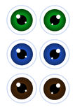 Cartoon eyes. Stock Photos