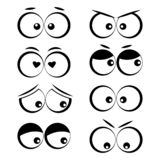 Cartoon eyes with different emotions. Vector illustration stock illustration
