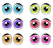 Cartoon eyes, expression vector silhouette symbol icon design. Beautiful illustration isolated on white background Stock Image