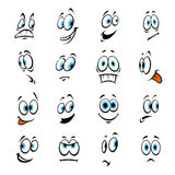 Cartoon eyes with expressions and emotions Royalty Free Stock Photos