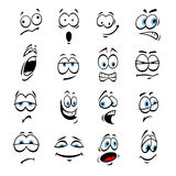 Cartoon eyes, face expressions and emotions Royalty Free Stock Photo