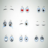 Cartoon Eyes Royalty Free Stock Photos