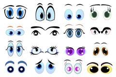 Cartoon eyes. Set of cartoon eyes illustration vector illustration