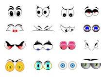 Cartoon Eyes. Set of cartoon eyes illustration on stock illustration