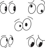 Cartoon eyes set.Vector Royalty Free Stock Photography