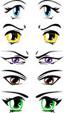 Cartoon eyes vector Royalty Free Stock Photo