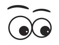 Cartoon eyes vector symbol icon design. stock illustration