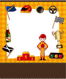Cartoon f1 card Royalty Free Stock Photography