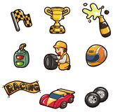 Cartoon f1 icon Royalty Free Stock Image