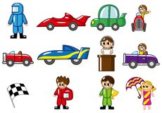 Cartoon f1 icon Royalty Free Stock Photos