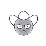 Cartoon Face Angry Country Man People Emotion Icon. Vector Illustration royalty free illustration