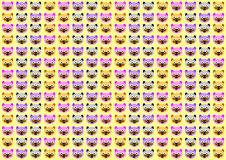 Cartoon Face Cat Wallpaper Royalty Free Stock Images