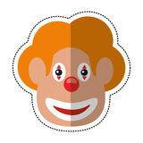 Cartoon face clown april fool day. Illustration eps 10 Stock Image