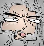 Cartoon face Stock Photo