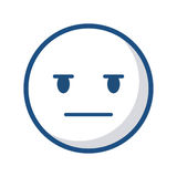 Cartoon face design. Expressionless cartoon face icon over white background. vector illustration Royalty Free Stock Photography