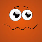 Cartoon face design. Orange background. Vector Illustration Stock Photo