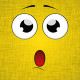 Cartoon face design. Yellow background. Vector Illustration Stock Image