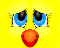 Cartoon face of a duck. Vector art illustration Royalty Free Stock Photos