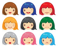 Cartoon face emotions Stock Image