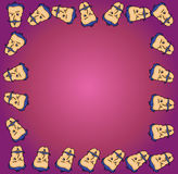 Cartoon face frame. Vector illustration of a cartoon face frame Royalty Free Stock Images