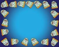 Cartoon face frame. Vector illustration of a cartoon face frame Stock Images