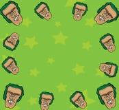 Cartoon face frame. Vector illustration of a cartoon face frame Royalty Free Stock Photo
