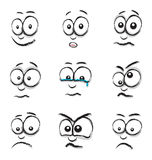 Cartoon face group Stock Photography